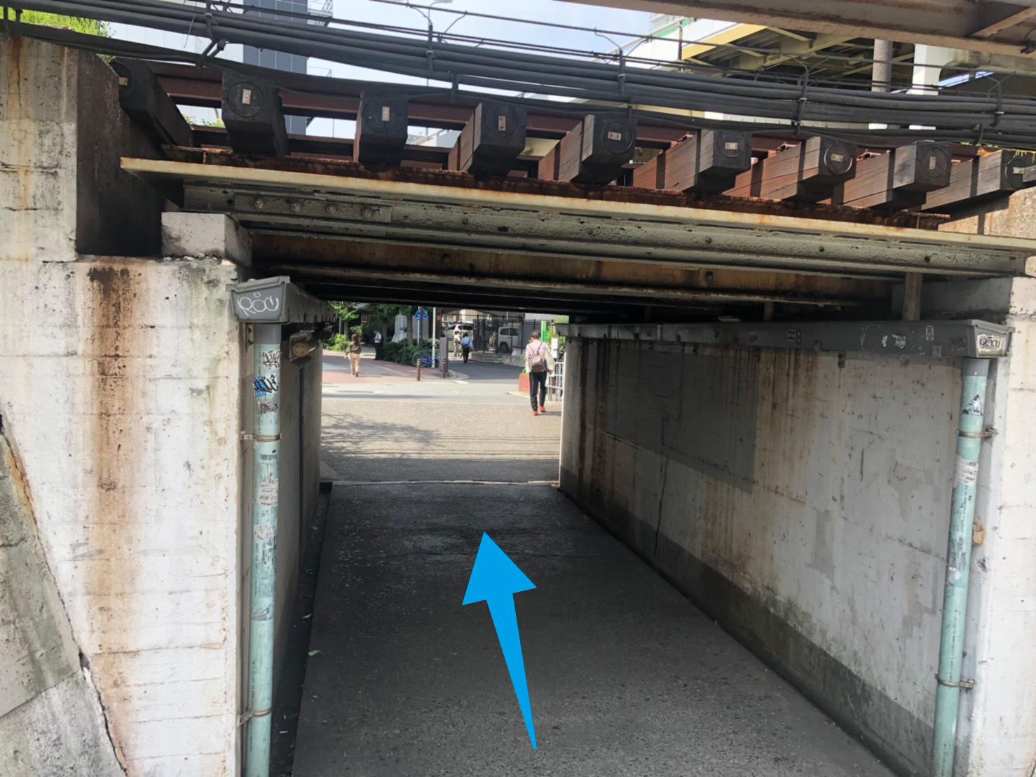 新大阪駅トンネル下